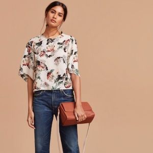 Aritzia Wilfred cambria floral blouse